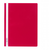 DURABLE A4 CLEARVIEW FOLDER RED - 25/PACK
