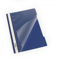 DURABLE A4 CLEARVIEW FOLDER DARK BLUE- 50/PACK