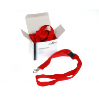DURABLE RED CORD BADGE