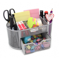 EasyPAG Mesh Desk Organizer 9 Compartments Silver