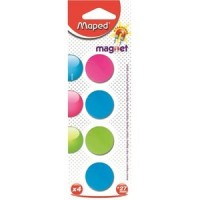 Maped magnets 4 pieces, one color per blister