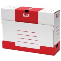 Fast Archive box color red print