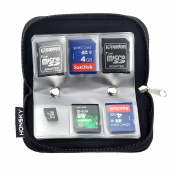 Honsky Memory Card Case 22 Slots Black