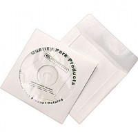 QUALITY PARK CD/DVD COVER ENVELOPE WHITE