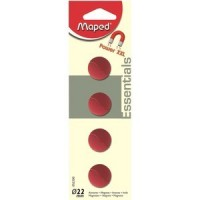 Maped magnets diameter 22 mm, 4 pieces