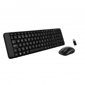 Logitech Wireless Keyboard and Mouse Combo MK220 Spanish Version-All Features in Compact Size