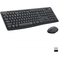 Logitech MK295 Wireless Keyboard and Mouse Combo with SilentTouch Technology, Full Numpad, Advanced Optical Tracking, Lag-Free Wireless, 90% Less Noise, Graphite