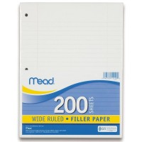 MEAD PAPER FILLER LEGAL RULED 10 1/2 x 8 WHITE