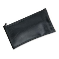MMF LEATHERETTE ZIPPERED WALLET BLACK
