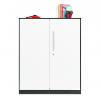 Mesa Magnus Steel Filing Cabinet Swing Door - White Handle