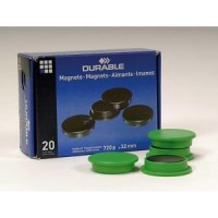 DURABLE MAGNETS 32MM, ASSORTED - 4 PIECES