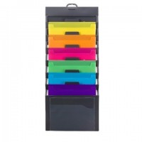 Smead Cascading Wall Organizer, 6 Pockets, Letter Size,