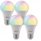 Nexxt Solutions Smart Home Wi-Fi Color Bulb LED - A19 4pk