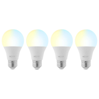 Nexxt 4-Pack Smart A19 Wifi Light Bulb in White