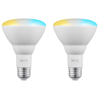 Nexxt Solution Smart Wifi Floodlamp Bulb in White s BR30/E26 (2 Pack)