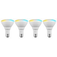 Nexxt Solutions Smart Home WiFi Bulb LED BR30 White 110 Volt (4 Pack)