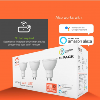 NEXXT MR16/GU10 Smart WiFi LED Light That Work with Alexa & Google Home,Siri, Echo, (No Hub Required) - 3-Pack WI-FI