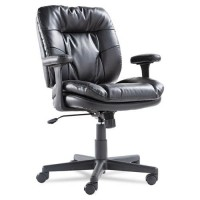 OIF CHAIR LEATHER TASK BK