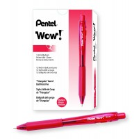 PEN BALLPOINT MED RED 12X
