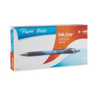 Paper Mate InkJoy 550RT Retractable Ballpoint Pens, Medium Point, Blue, Box of 12