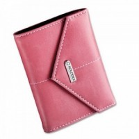 Rolodex Personal Leather Card Case  Pink