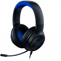 Razer Kraken X Ultralight Gaming Headset: 7.1 Surround Sound - Lightweight Aluminum Frame - Bendable Cardioid Microphone - PC, PS4, PS5, Switch, Xbox One, Xbox Series X & S, Mobile - Black/Blue