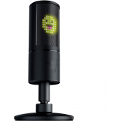 Razer Seiren Emote Streaming Microphone: 8-bit Emoticon LED Display - Stream Reactive Emoticons - Hypercardioid Condenser Mic - Built-in Shock Mount - Height & Angle Adjustable Stand - Classic Black