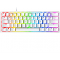 Razer Huntsman Mini 60% Gaming Keyboard: Fastest Keyboard Switches Ever - Clicky Optical Switches - Chroma RGB Lighting - PBT Keycaps - Onboard Memory - Mercury White