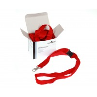 DURABLE RED Textile CORD BADGE (10 PIECES)
