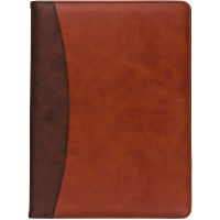 Samsill Two-Tone Padfolio Brown with Spine Accent