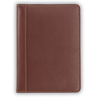 Samsill Padfolio Contrast Stitch Leather Small Brown