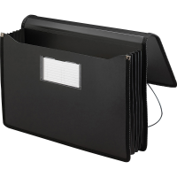 Smead Expanding Wallet Black With Elastic Strap