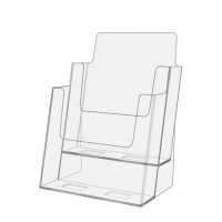 2 TIER BROCHURE HOLDER CLR