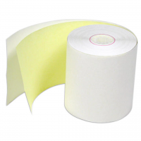"Thermamark RPC3.0-100-2P Consumables, Carbonless Receipt Paper, 3""(76 mm) x 100'(30.48M), 0.85""Core, 3.09""(78.49 mm) Od, White, Canary, 50 Rpc"