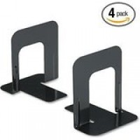 UNIVERSAL BOOKEND NONSKID 9in H BLACK