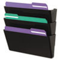 UNIVERSAL FILE WALL RECYCLE 3/PK BLACK