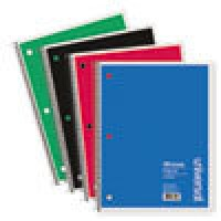 UNIVERSAL NOTEBOOK 1SUB LTR 100 ASSORTED
