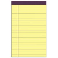 UNIVERSAL PAD JUNIOR PERFORATED 5X8 YELLOW EACH