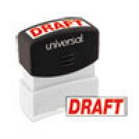 UNIVERSAL STAMP DRAFT RED
