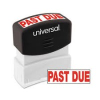 UNIVERSAL STAMP PAST DUE RED