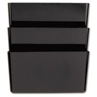 UNIVERSAL WALL FILE MESH 3 POCKET BLACK