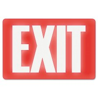 US STAMP Glow In The Dark Sign, 8 x 12, Red Glow, Exit