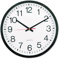 Universal Round Wall Clock Quartz Black 12.5inch