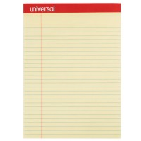 UNIVERSAL PAD LEGAL RULE LETTER PERFORATED YELLOW 1X