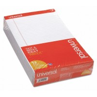 UNIVERSAL PAD LEGAL RULE PERFORATED WHITE 12X