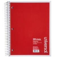 UNIVERSAL WIREBOUND NOTEBOOK COLLEGE RULED 8 1/2 x 11 ASSORTED