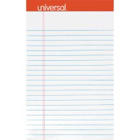 UNIVERSAL PAD JUNIOR PERFORATED 5X8 WHITE 1X