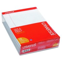 UNIVERSAL PAD LETTER PERFORATED WHITE 12/PACK