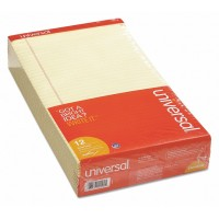 UNIVERSAL NOTE PAD LEGAL PERFORATED YELLOW 12X