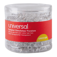 Universal Clear Push Pins 3/8in 400x